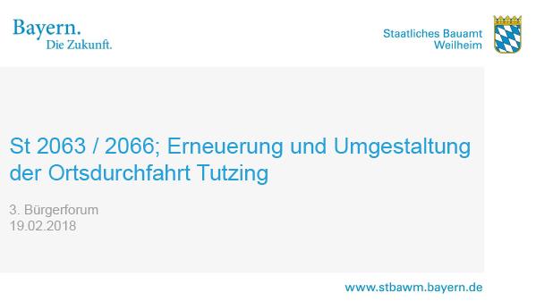 Titel Präsentation 3. Tutzinger Bürgerforum