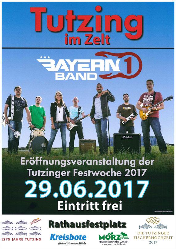 Plakat Bayern Band Eröffnungsveranstaltung Tutzinger Festwoche