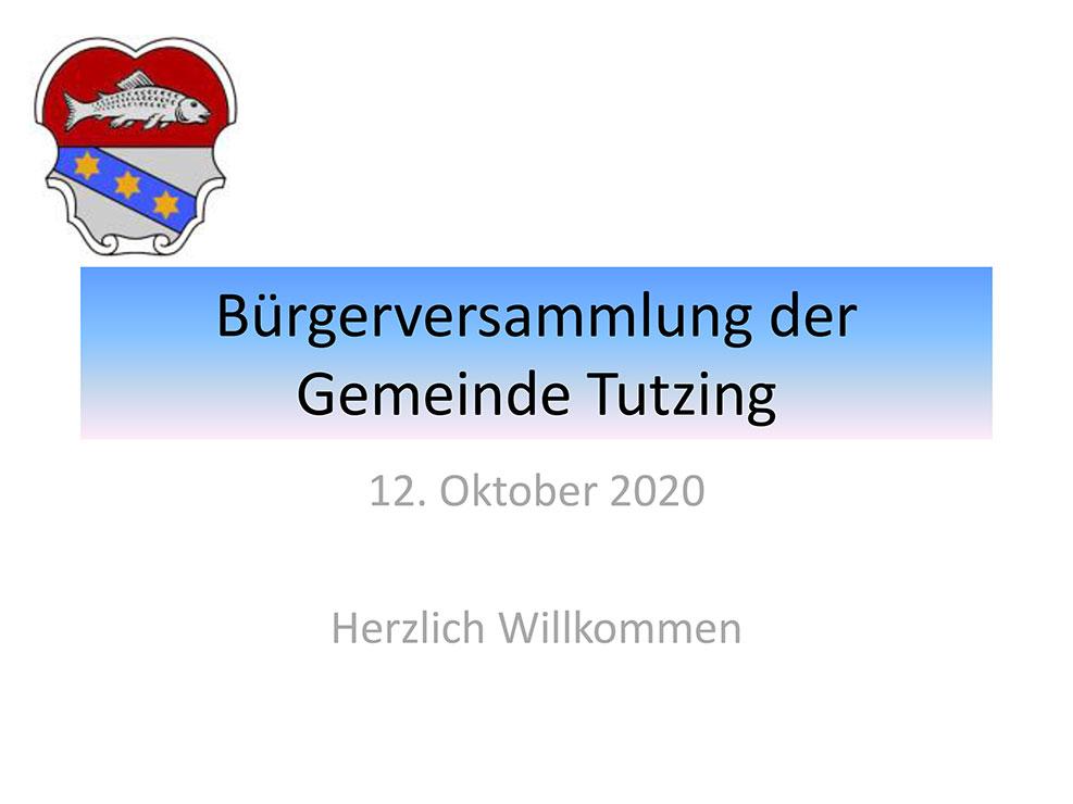 Pdf-Datei der Präsentation der Tutzinger Bürgerversammlung 2020