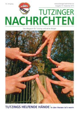 Vorerst geschlossen: <br>Tutzinger Nachrichten - Monatsmagazin für Vergangenes, Gegenwärtiges, Geplantes - in und für Tutzing