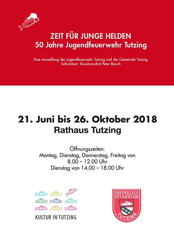 Plakat Zeit für junge helden - Ausstellung Rathaus Tutzing