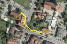 Wegbeschreibung vom Rathaus zur Außenstelle des Amtes 4