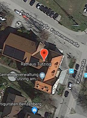 Rathaus Tutzing Satellitenbild